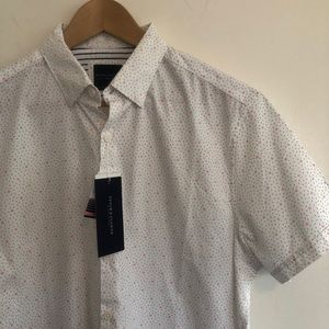 Patterned button-down cotton shirt | NWT